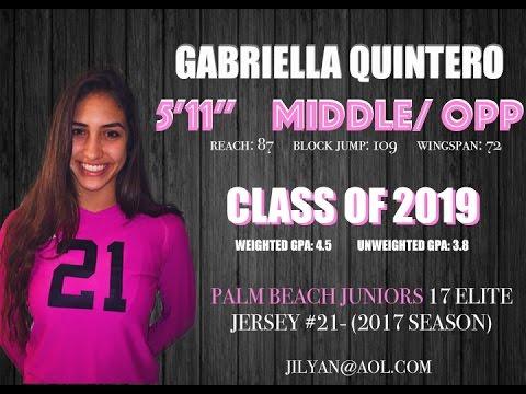 Gabriella Quintero (Class of 2019) Middle Blocker/OPP- Palm Beach Jrs.