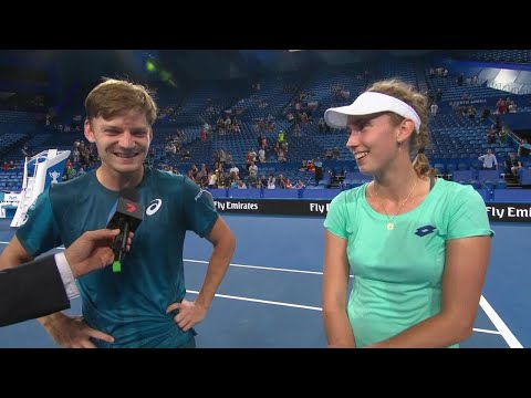 Elise Mertens and David Goffin on-court interview (RR)   Mastercard Hopman Cup 2018