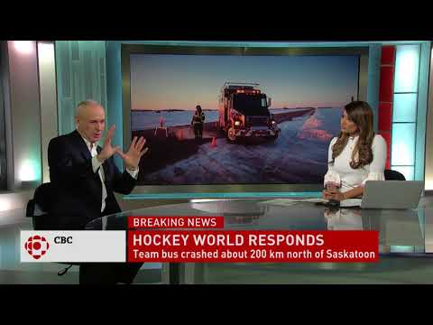 Host of Hockey Night in Canada  Ron MacLean reacts to Humboldt Broncos bus crash