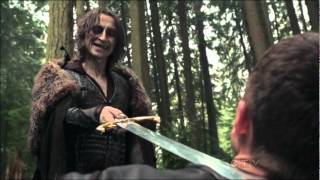 Rumpelstiltskin-Charming sword fight Once Upon A Time Finale 1x22 A Land Without Magic