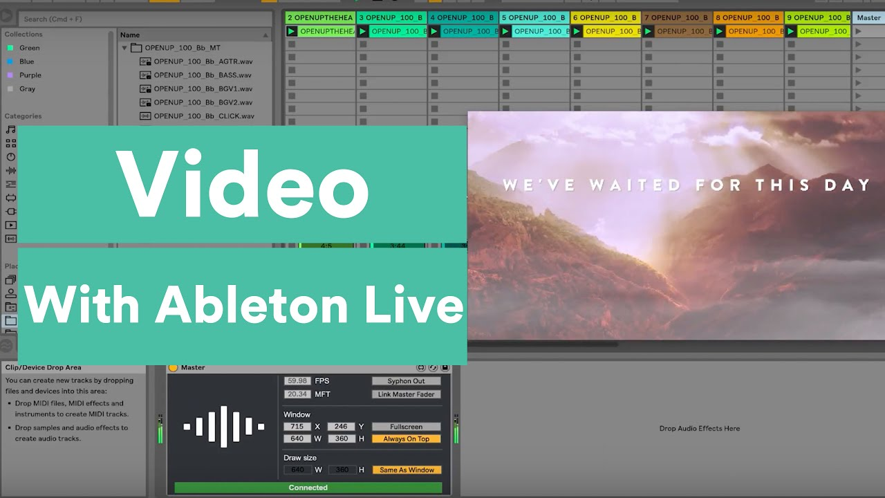 How To Use Video In Ableton Live Youtube