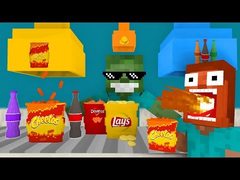 Monster School: WORK AT SNACKS PLACE! - Minecraft Animation
