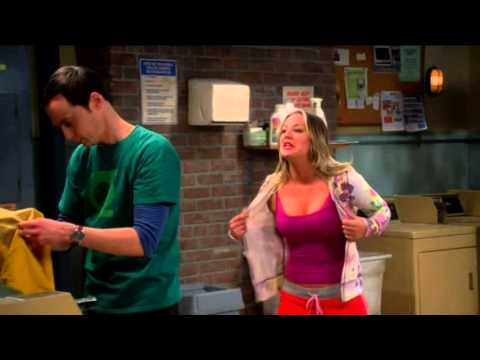 the big bang theory - hot penny in bra - youtube