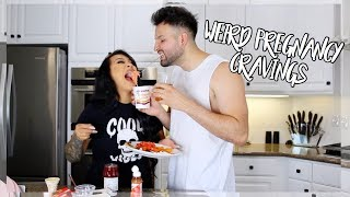 TRYING MY SUBSCRIBERS PREGNANCY CRAVINGS  *MUST WATCH*