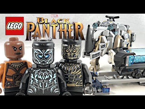 LEGO Black Panther Rhino Face-Off by the Mine review! 2018 set 76099!