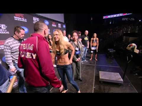 Hottest weigh in ever!!  Rousey vs Carmouche
