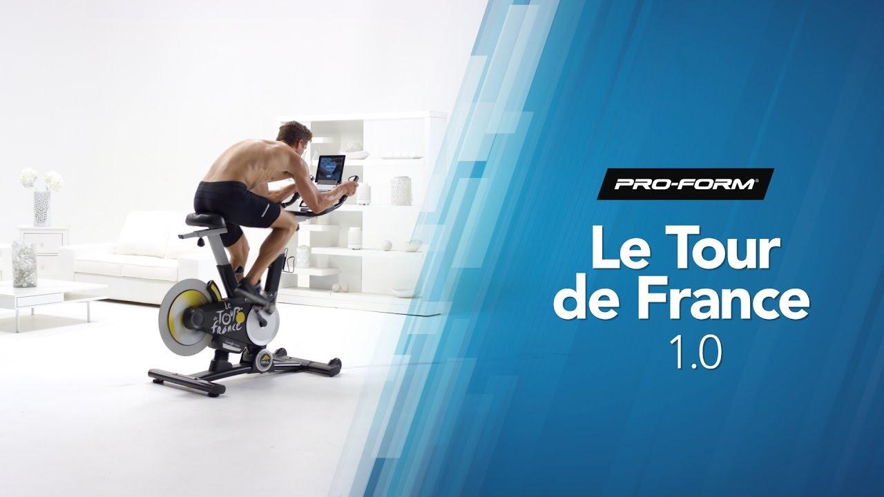 11ecdf14bb9 Le Tour de France 1.0 Bike by ProForm - YouTube