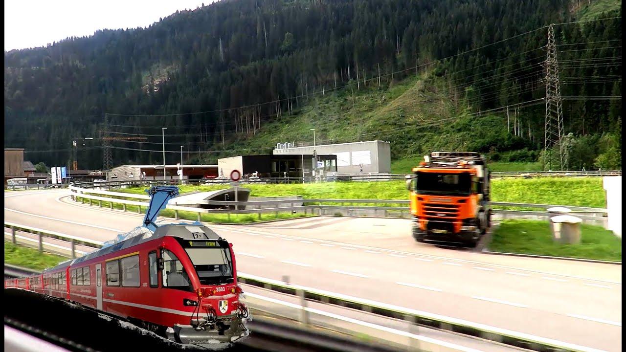 Zug Mitfahrt Landquart - St.Moritz , Fideris-Küblis  , Train ride, Viagem de trem