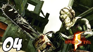 Resident Evil 5: - Part 4 - CHAINSAW MAN BOSS FIGHT!