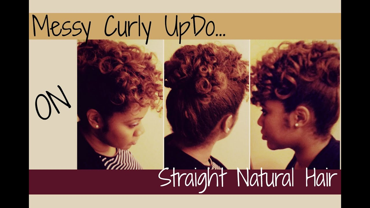 Perm Rod Set Updo On Straighten Natural Hair Naturally