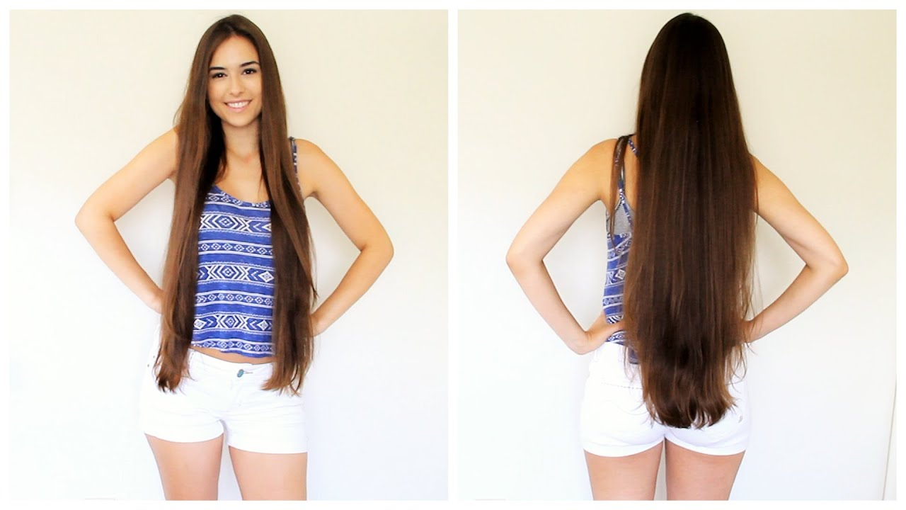 how to grow long hair in one month