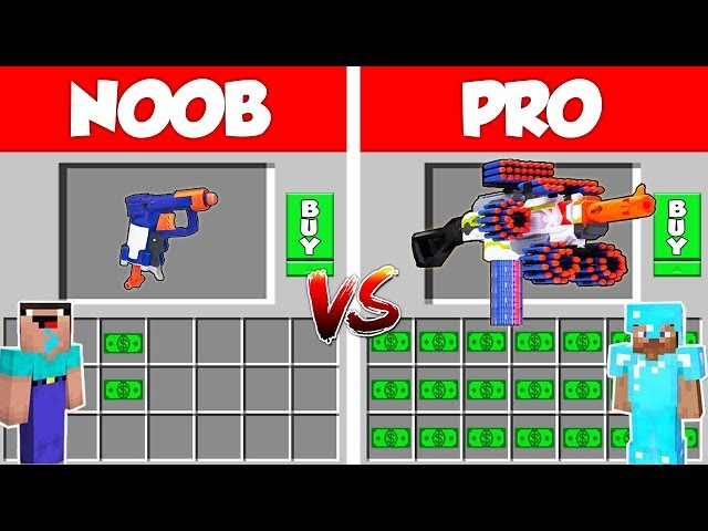 Minecraft NOOB vs PRO: 1 Million$ Nerf Gun Battle in Minecraft / Animation