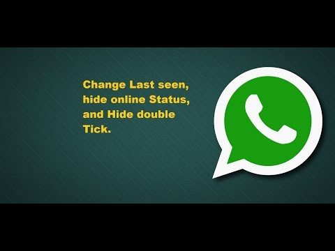 How to change whatsapp last seen, hide double tick And hide online status.