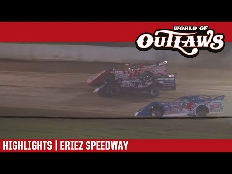 World of Outlaws Craftsman Late Models Eriez Speedway August 20, 2017 | HIGHLIGHTS