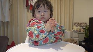 はじめての結露で遊ぶ1歳児 thumbnail