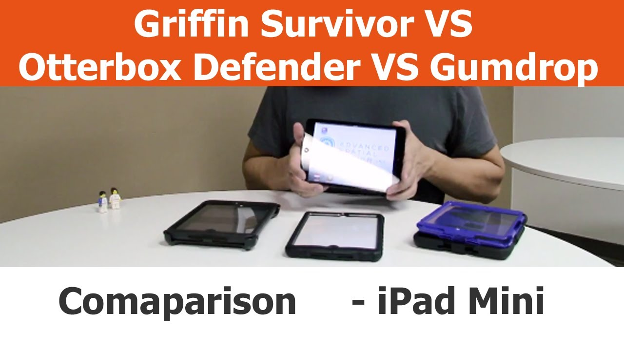 e4eca5b1d1 Rugged iPad Mini cases - Griffin Survivor vs. Otterbox Defender vs. Gumdrop  Drop Tech - YouTube