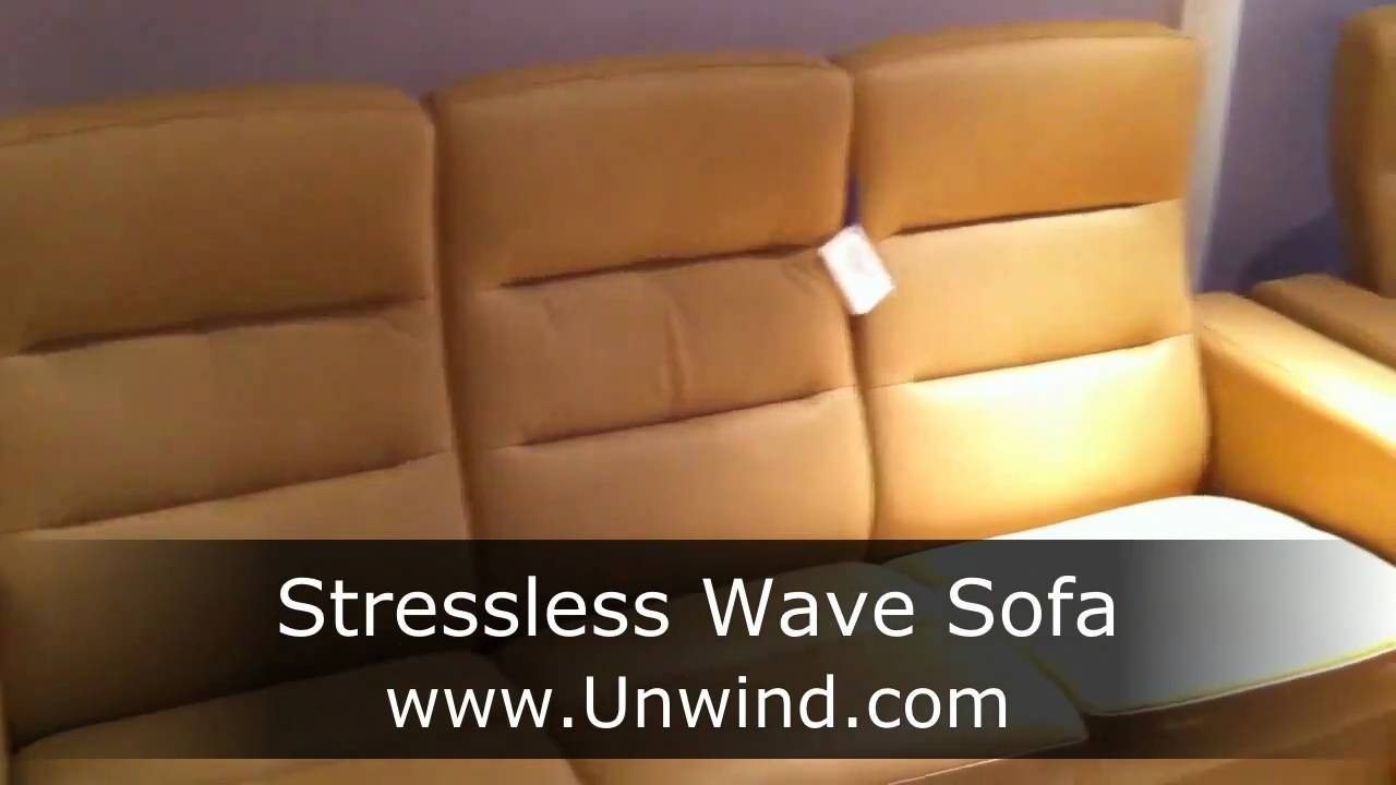 Stressless Wave Sofa Sand Paloma Leather From Ekornes And Unwind