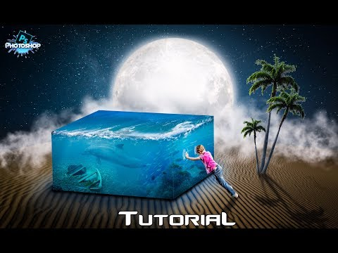 3D water Cube Photoshop Manipulation Tutorial |MREditx|