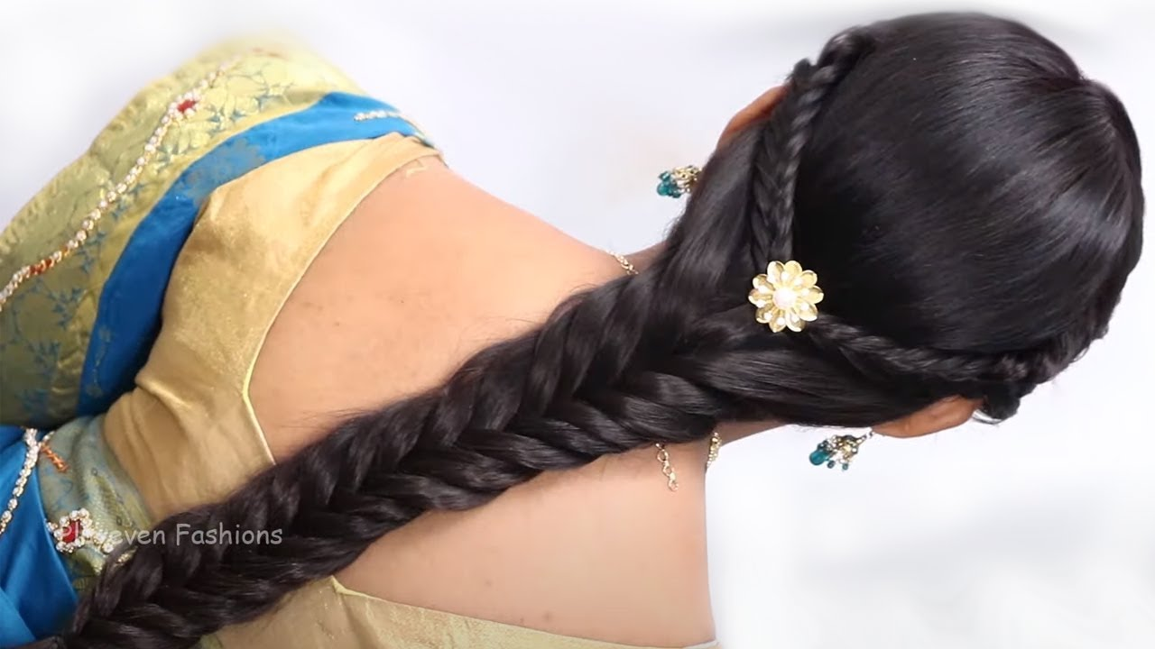 Easy Hairstyles for Saree / Hairstyles for party / Indian Hairstyles for Saree / Fashion / Style