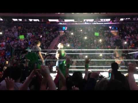 John Cena throws hat right to me - MSG 3/8/14