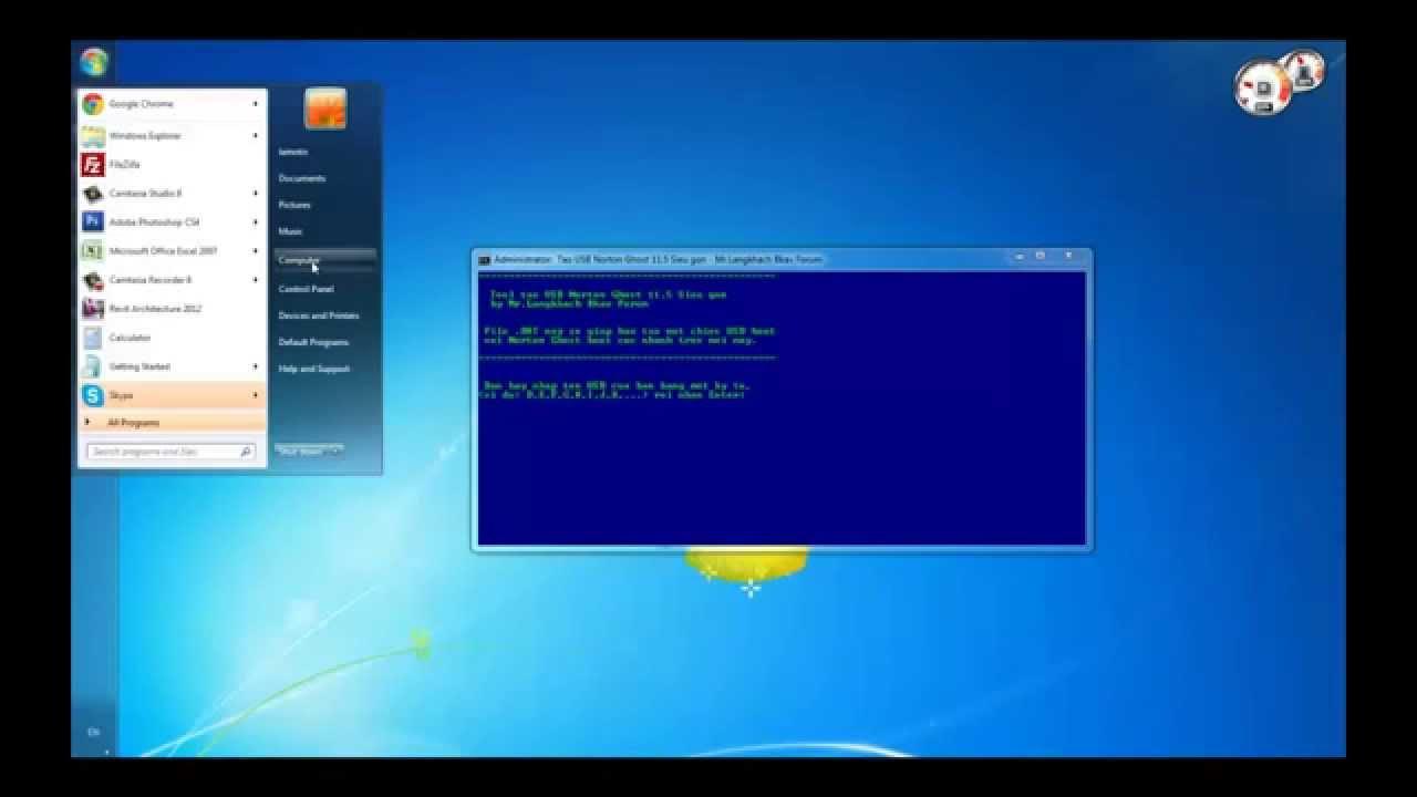 Hướng dẫn tạo USB Boot Ghost để để Ghost lại máy tính