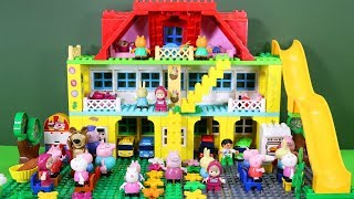 Peppa Pig Legos House Construction Sets - Lego Duplo House With Water Slide Toys For Kids #3
