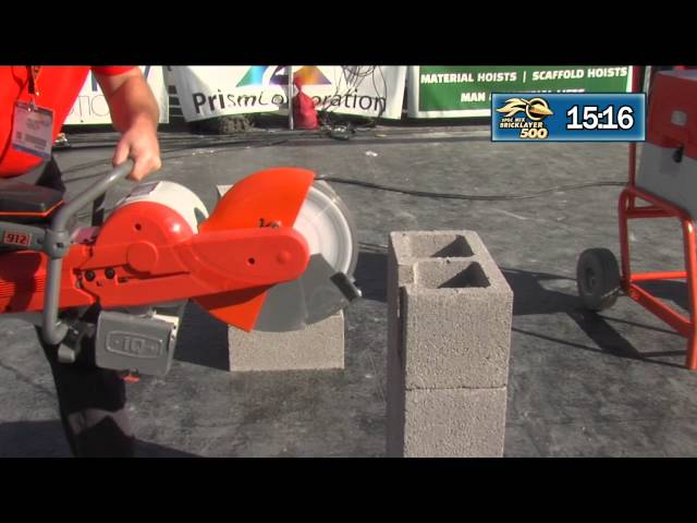 IQ POWER TOOLS PC912 DUSTLESS SAW AT THE 2015 SPEC MIX BRICKLAYER 500® WORLD CHAMPIONSHIP