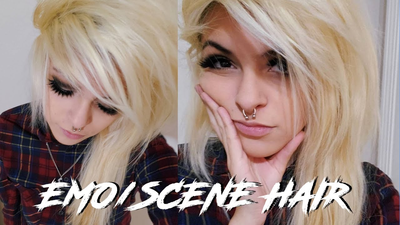 how to cut emo/scene hair from scratch ♡