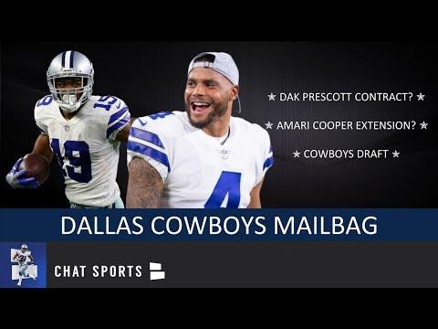 Dallas Cowboys: Dak Prescott Contract, Amari Cooper Extension & 2019 NFL Draft | Mailbag