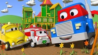 Детские мультфильмы с грузовиками Грузовик хамелеон Трансформер Карл в Автомобильный Город