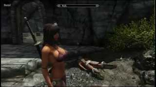 Skyrim Breast physics and collision tutorial