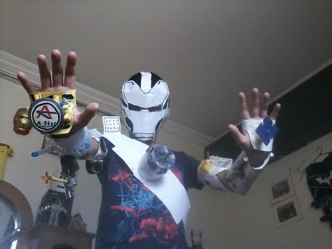 Working ironman paper suit part 2