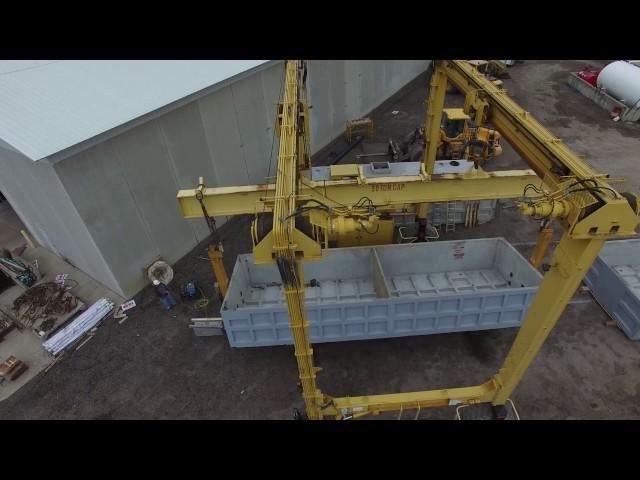 Rolling a 40,000 gallon tank at Wieser Concrete