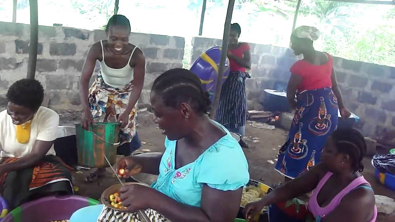 Liberian Women Singing While They Work