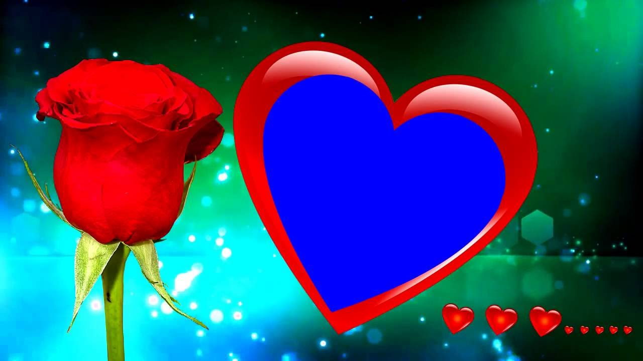 Heart Symbol Wedding Frame Background Animation Video