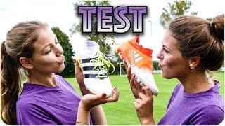 GIRLS TESTING ADIDAS FOOTBALL BOOTS