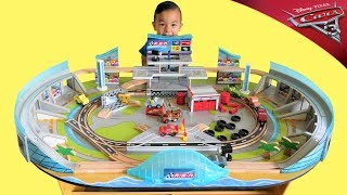 BIGGEST Disney Cars 3 Florida Speedway Train Table Racetrack Fun With CKN Toys