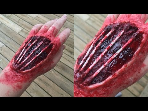 exposed tendons hand makeup tutorial youtube