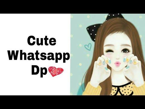 Cute Girls Cartoon Whatsapp Dp