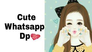 Lindo de dibujos animados de chicas whatsapp Dp