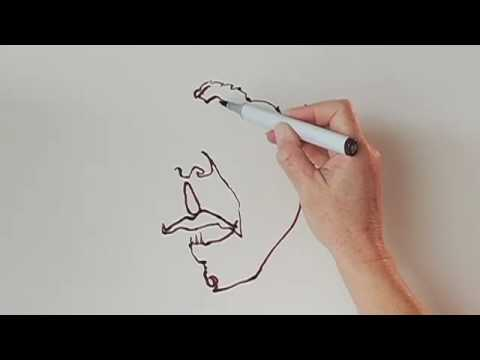 Contour Line Drawing Picasso : Continuous line contour drawing lesson youtube