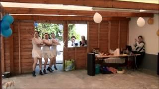 Танец белых лебедей на день Рождения дядь Саши!