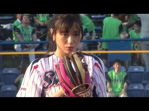 大原櫻子、始球式初挑戦もノーバンならず 月9ドラマ「恋仲」PR #Sakurako Ohara