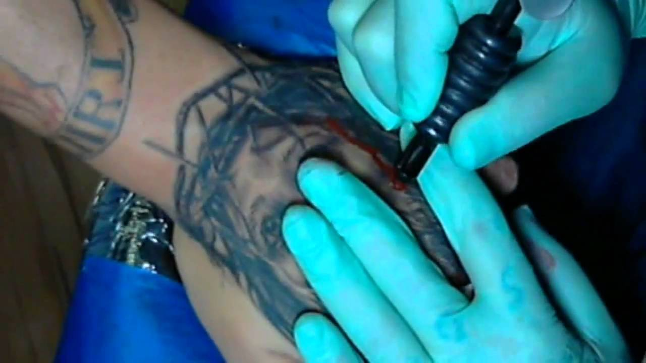 Hand Tattoo Of Jesus Christ Youtube