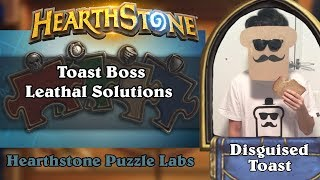 Hearthstone Puzzle Labs - Toast Boss Leathal Puzzle Solutions