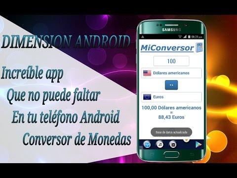 Conversor De Moneda Para Android 2016 // DIMENSION ANDROID