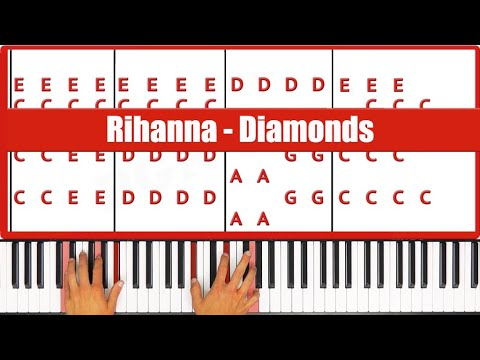 Diamonds Rihanna Piano Tutorial - EASY