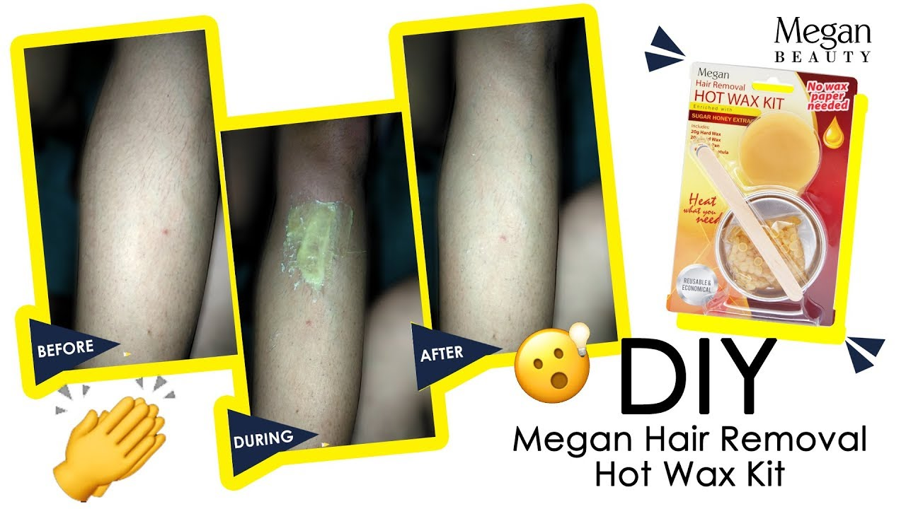 Diy Megan Hair Removal Hot Wax Kit Youtube