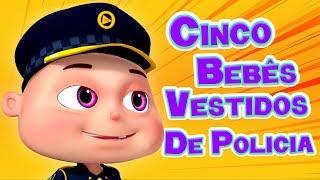 Cinco Bebês Vestidos de Polícia I Canção da Polícia I Canções Infantis I Videogyan Português