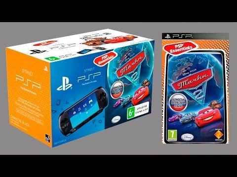 PSP Sony E1008 Black + Тачки 2 Essentials Распаковка